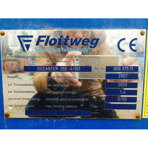 德国FI0TTWEG公司产全新二手卧式螺旋沉降离心机
